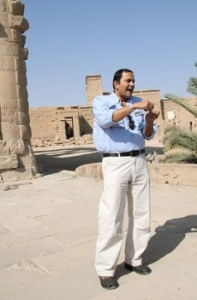Photograph of Egyptologist Amr Shamala