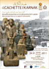 Photograph of poster advertising the Cachette at Karnak Conference