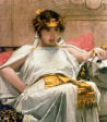 Painting by John Waterhouse of Cleopatra