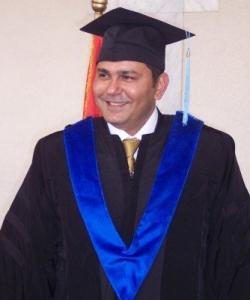 Photograph of Amr Shamala graduating