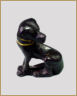 Bronze figurine of a dog with a painted gold collar - Credit Metropolitan Museum of Art New York