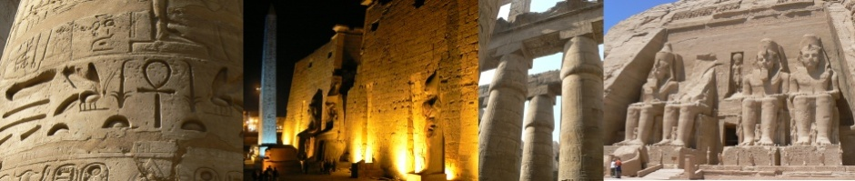 Montage of photographs of Egypt Ancient sights