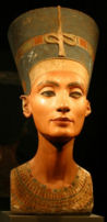 Photograph of Nefertiti's Bust in the Berlin Museum
