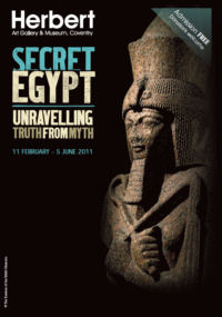Photograph of a Poster for the Secret Egypt Exhibition