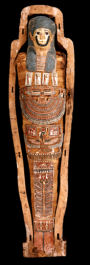 Photograph of mummy from the exhibition