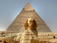 Photograph of the Sphinx on the Giza Plataeu
