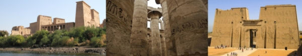 Photographic Montage of Ancient Egyptian Temples