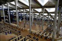 Interior photograph of the Bibliotheca Alexandrina