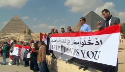 Photograph of Egyptian Tour Guides at Giza