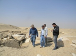 Dr Zahi Hawass inspecting Dashur - image courtesy of the Hawass Blog Website